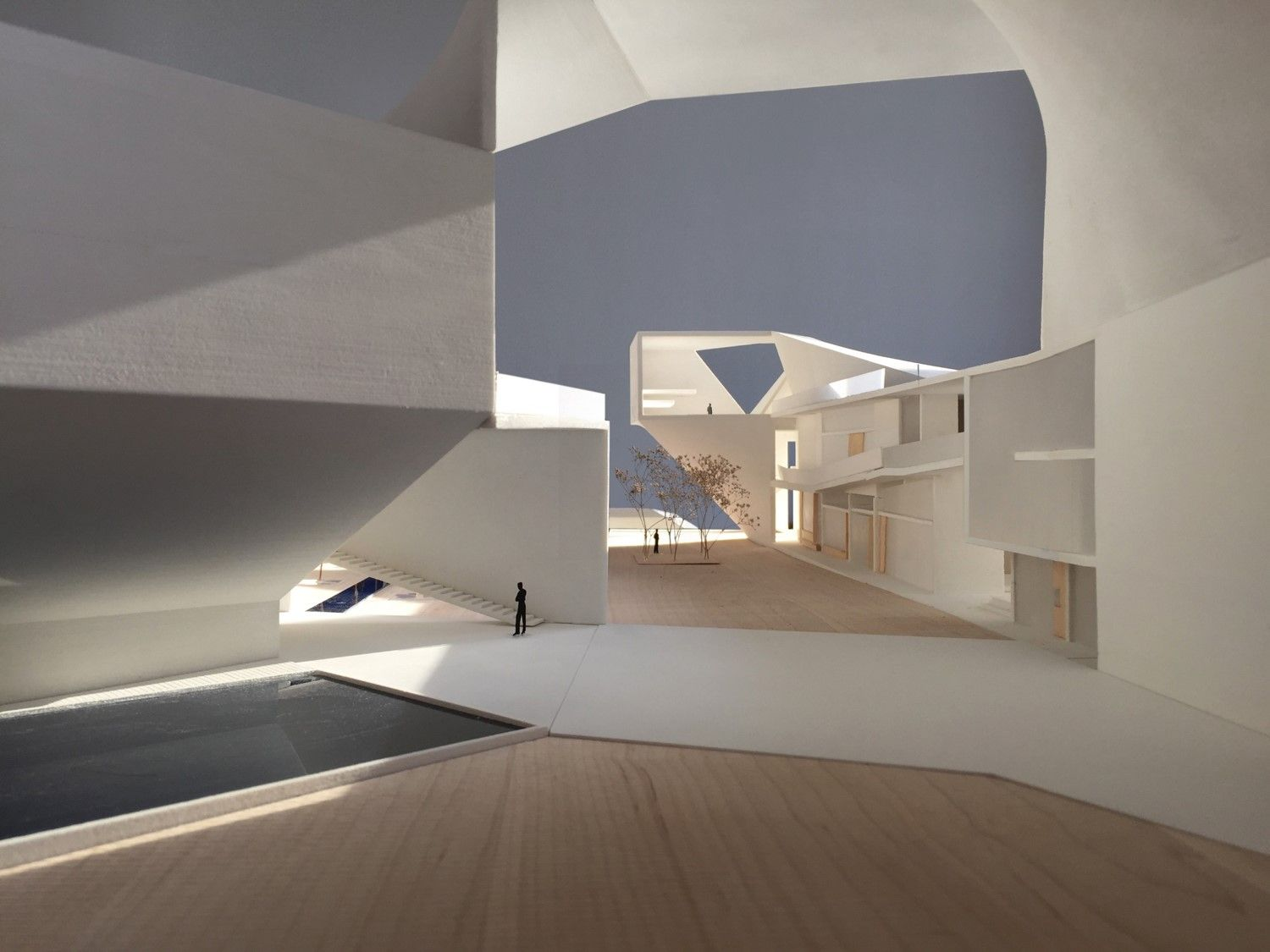 <span>Model photo from proposed new Doctorate Building for the National University of Colombia, courtesy of Steven Holl Architects</span>