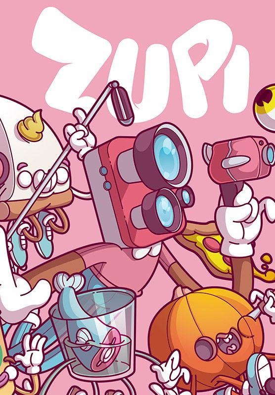 revista de arte e ilustração Zupi 63 - capa Matt Thunder Rocket