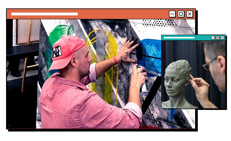 live art, cursos, oficinas no pixel show