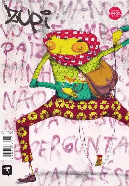 Revista de arte, ilustração e street art Zupi - capa: OsGemeos edição 1