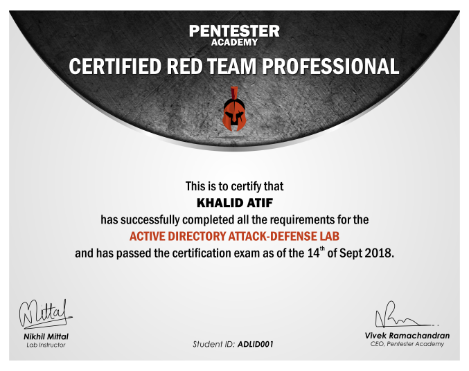 Attacking And Defending Ad Beginner S Edition