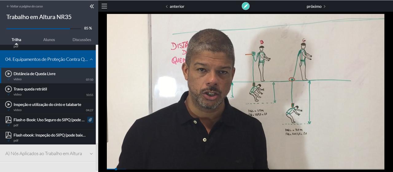Videoaula com instrutor<span></span>