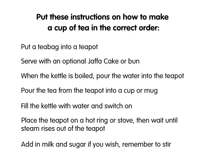 instructions on how to make a cup of tea